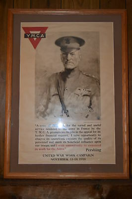 World War 1 Poster : General Pershing Ymca From 1918