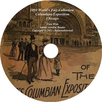 22 Books on CD- 1893 World's Fair Collection Columbian Exposition Chicago