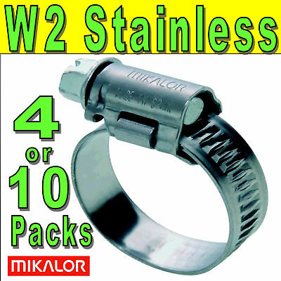 Mikalor W2 430 Stainless Steel Worm Drive Hose Pipe Clips Tubing Clamps UK