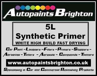 Synthetic High Build Primer Filler White 5L Autopaints