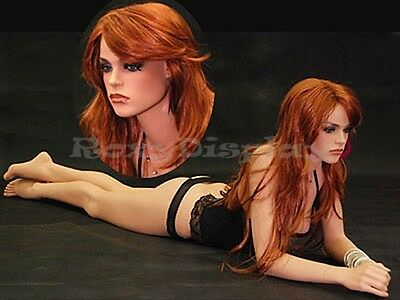 Fiberglass Female Mannequin Manikin Dress Form Display #MD-FR12+Free Wig