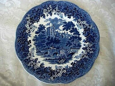 Collectible Vintage J.&G.MEAKIN Blue Haddon Hall Scenic Plate - Made in England