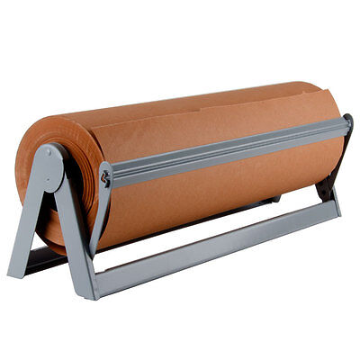 """24"""" Paper Cutter / Dispenser for Butcher, Gift Wrap and Kraft Roll Paper"""