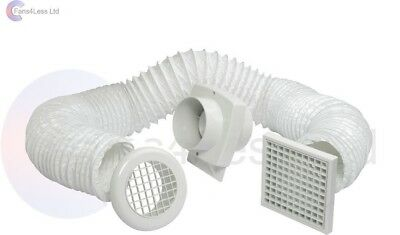 "Shower Fan Kit - 4""/100mm Manrose VSF100S Extractor Fan"