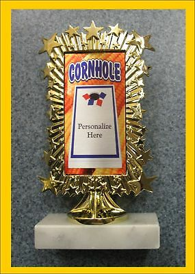Personalized Cornhole Corn Hole Trophy Award