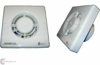 "Manrose Xf100T 4"" Bathroom Extractor Fan With Timer"