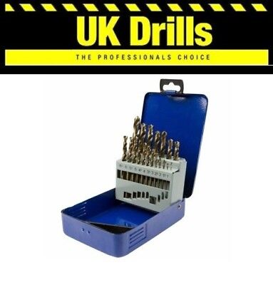 19Pc Piece Cobalt Drill Bit Set, 1Mm - 10Mm Hss Drill Bits