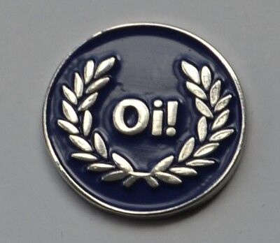 Blue Oi! Skinhead Skins Quality Enamel  Pin Badge