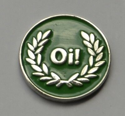 Green Oi! Skinhead Skins Quality Enamel  Pin Badge