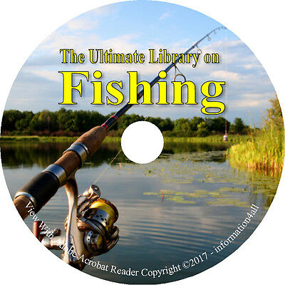 77 Books on DVD, Ultimate Library on Fishing, Fish How to Angler Fisherman