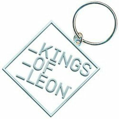 Kings Of Leon Band Block Logo Metal Silver White Keychain Keyring Gift Official