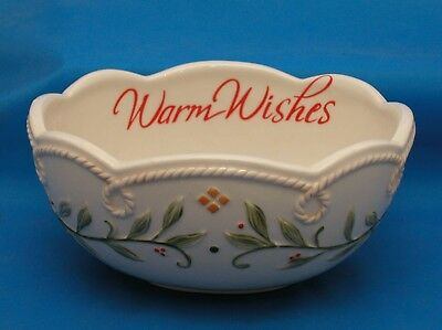Fitz and Floyd WARM WISHES Sentiment Bowl