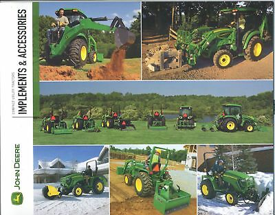 John Deere Implements & Accessories Sales Brochure 2/09