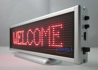 Red LED Message Information Programmable Moving Scroll Display Dot Matrix 16x64