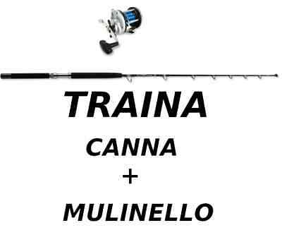 Offerta Stock Traina Canna In Carbonio + Mulinello New