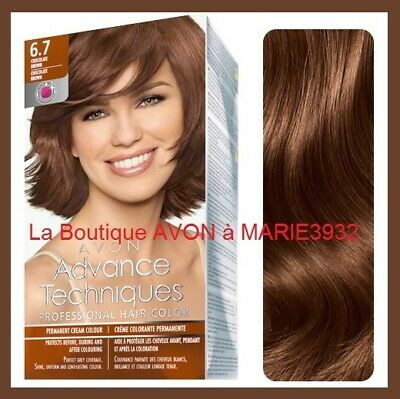 COLORATION Cheveux CHATAIN CHOCOLAT 6.7  AVONCOULOUR  NEUF