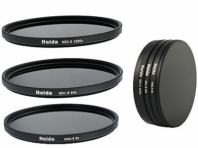 Haida ND Graufilterset ND8x, ND64x, ND1000x -  77mm inkl. Stack Cap