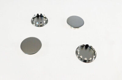 "Set of Four 7/8"" Metal Hole Plugs- Nickel Plated  SP-875-NKX4"