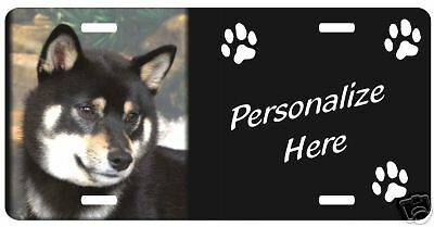 Shiba Inu, tri   Personalized Automobile  License Plate