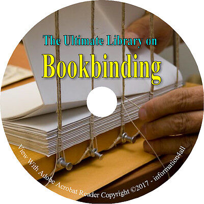 Bookbinding Binding How to Make Book Making Cover Repair Craft 65 Books on DVD
