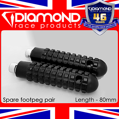 Diamond Race Products - Replacement Footpegs Foot Pegs Pair M8 Bolt For Rearsets