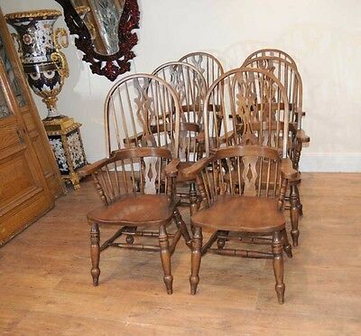 Set 6 Windsor Arm Chairs Armchairs Oak Farmhouse • £2,400.00