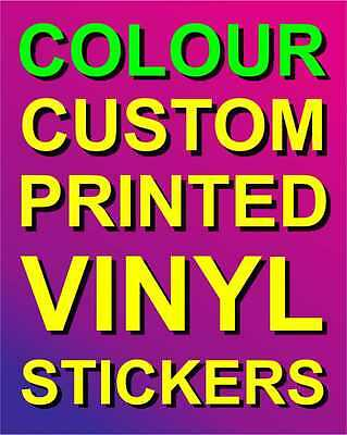 Custom Printed Colour Vinyl Stickers - Indoor / Outdoor