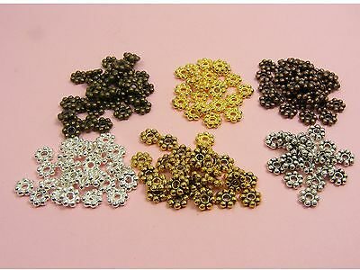 50 Bali DAISY Metal Spacer BEADS 4mm  5mm ~SILVER/ Gold/ TIBET SILVER/ A Copper~