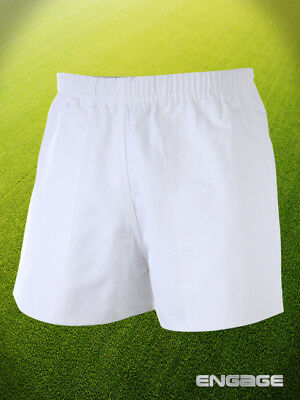 """Engage Cotton Rugby Shorts White Kids Sizes 22""""-28"""""""