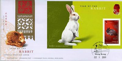 Hong Kong, 2011 Year Of The Rabbitt, M/s, Imperf Fdc