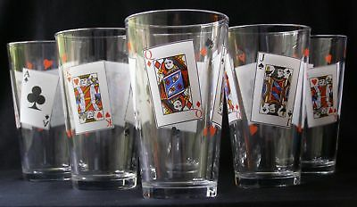 6 D'ARQUES DURAND LUMINARC CARD PARTY TUMBLERS 16oz.