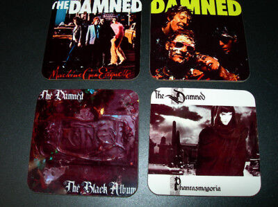The Damned Album Cover COASTER Set