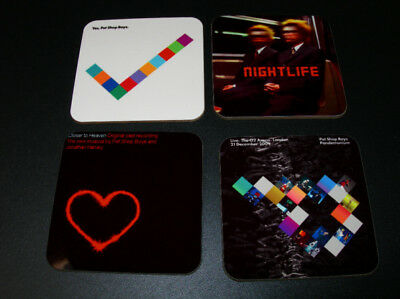 The Pet Shop Boys Album Cover COASTER Set #2
