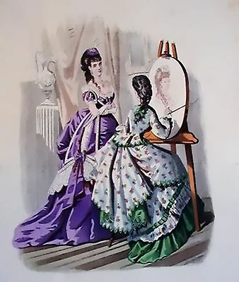THE ARTIST~counted cross stitch pattern #15~People Ladies Victorian Chart