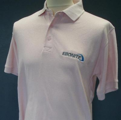 Ebonite Polo Shirt - Pink  Tenpin Bowling shirt - new