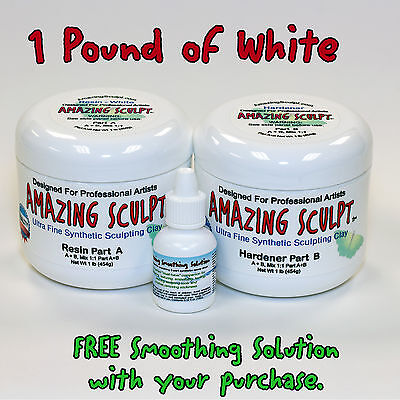 AMAZING SCULPT - White 1 lb Great for CMing Breyers and Doll Repairs