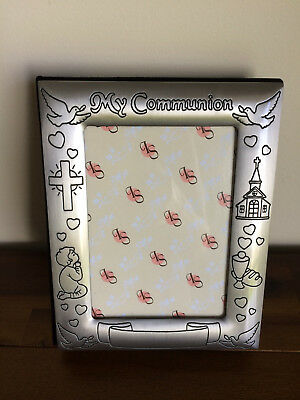 My First Communion Photo Album/Gift Pewter Photo Front