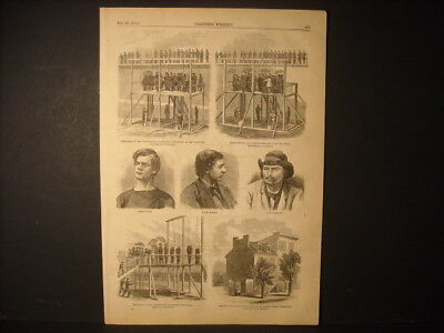 Lincoln Assassination Conspirators Execution Engravings 1865