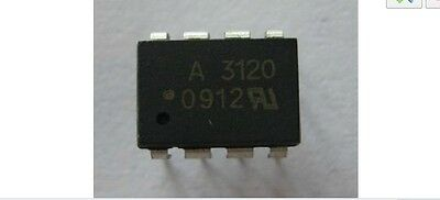 2 PCS HCPL-3120 HCPL3120 A3120 DIP-8 Optocoupler IC New