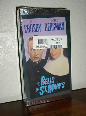 The Bells of St. Mary's - Crosby,Bergman (VHS,B&W,NEW)