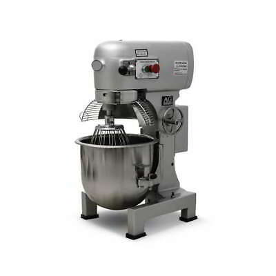 Brand New Commercial 20 Litre Planetary Mixer Dough Mixer 3 attachments 1100W