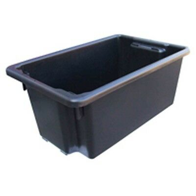 4x Storage Tubs FireWood Recycled Plastic Crates Packing 52l Parts Racking Shelf