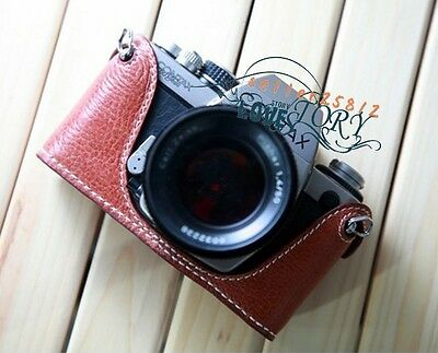 100% Handmade TOP Genuine Real leather Camera case bag cover for contax S2 DSLR