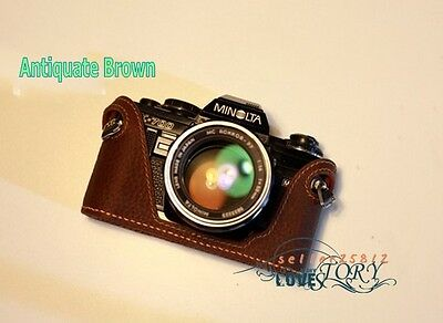 100% TOP Genuine Real COW leather Handmade Camera case bag for Minolta X300 X700