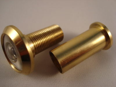 Door Viewer 180 Degree Extra Wide Angle Solid Brass
