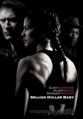 """MILLION DOLLAR BABY 27""""x40"""" D/S Original Movie Poster One Sheet Clint Eastwood"""