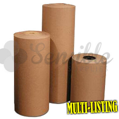 Heavy Duty Thick Brown Kraft Wrapping Paper - 90gsm