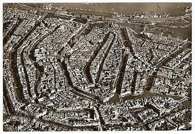 RPPC 1950's Amsterdam Holland AMAZING AERIAL VIEW PHOTO