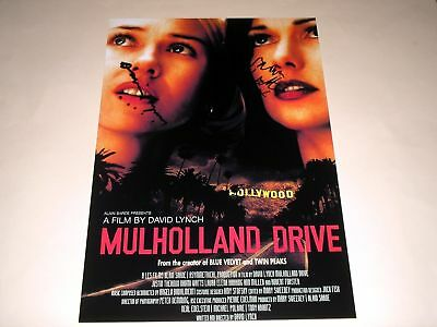 """Mulholland Drive Pp Signed 12X8"""" Poster David Lynch"""