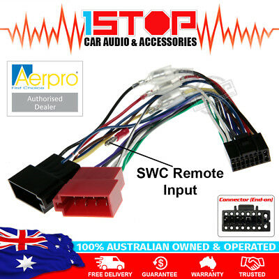AERPRO APP8KE2 KENWOOD TO ISO WIRING HARNESS with SWC REMOTE INPUT WIRE